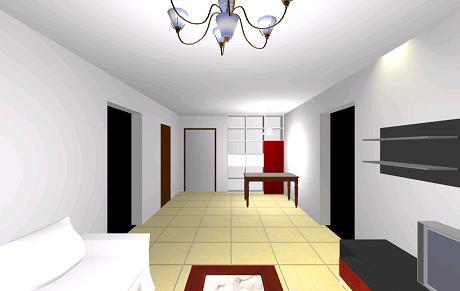 方案名称:客厅多功能柜(酒柜)设计方案